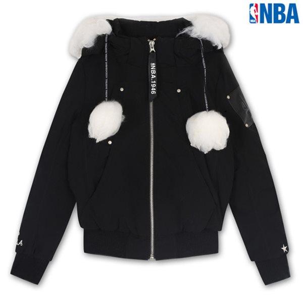 [NBA]POR BLAZERS 숏기장 방울 다운 점퍼 BK (N144DW711P)