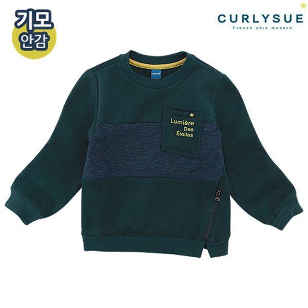 [컬리수] 트리플 배색티셔츠(기모) CMW1GQTS52GN [겨울]
