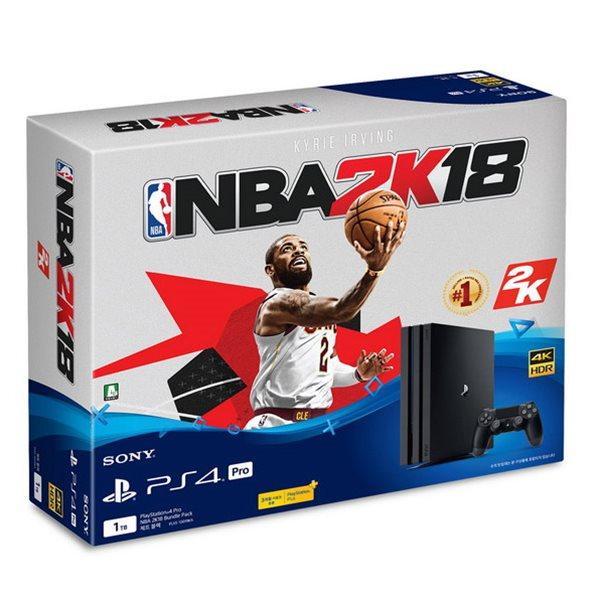 PS4 프로 본체 7017B (1TB) NBA 2K18 번들팩 / PS PLUS 3개월동봉