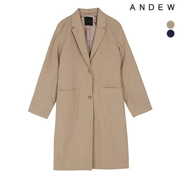 [ANDEW]여성 싱글 아웃포켓 코트(O173CT500P)