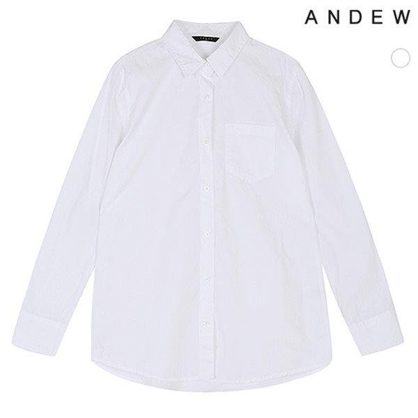 [ANDEW]여성 기본카라 루즈핏 셔츠(O173SH510M)
