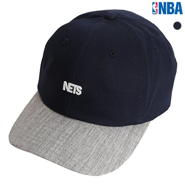 [NBA]BKN NETS 미니 금속장식 SOFT CURVED FIT CAP(N175AP372P)