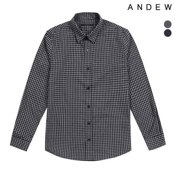[ANDEW]남성 기본카라 잔체크SH(O174SH110P)