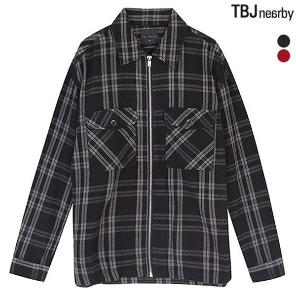 [TBJ]남성 제기장 체크 셔츠형 자켓(T173JP170P)