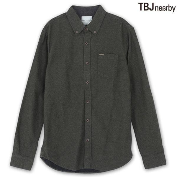 [TBJ]남성 헤비기모 솔리드 셔츠 KH (T144SH410P)