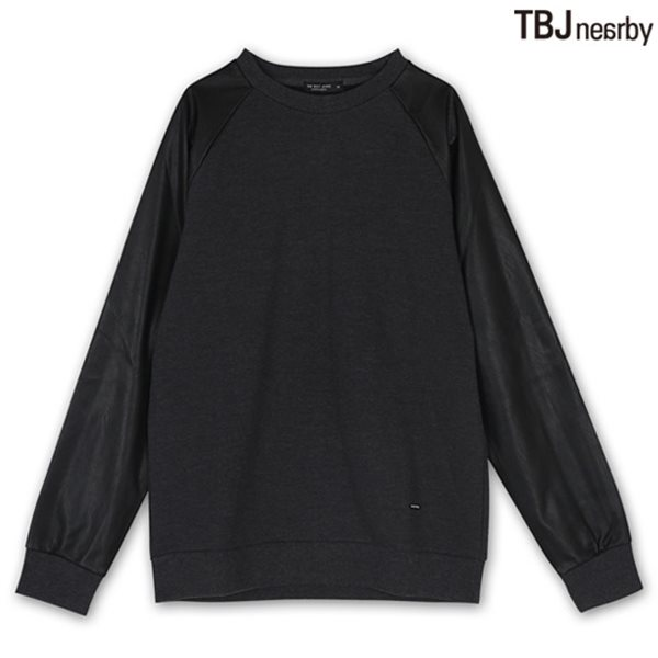 [TBJ]남성 기모쮸리 PU패치 맨투맨 티셔츠 CGR (T144TS130P)