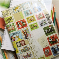 School book cover -illust stamp