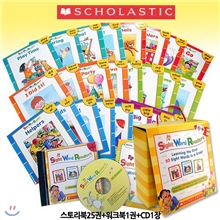 [Scholastic] Sight Word Readers Set (���丮��25��+��ũ��1��+CD1��) : Learning the First 50 Sight Words is a Snap