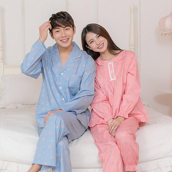 핑코코 P209 스타베어 커플잠옷/잠옷/파자마/홈웨어