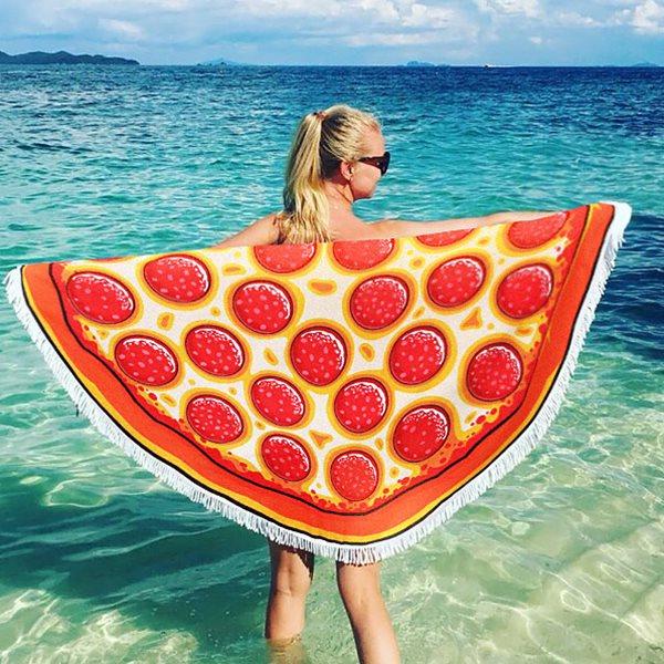 피자 원형 비치타올/비치타월/수건/비치수건/바캉스
