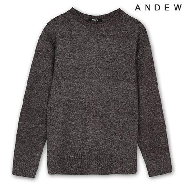 [ANDEW]유니 알파카 솔리드 풀오버 MGR (O154KT010P)