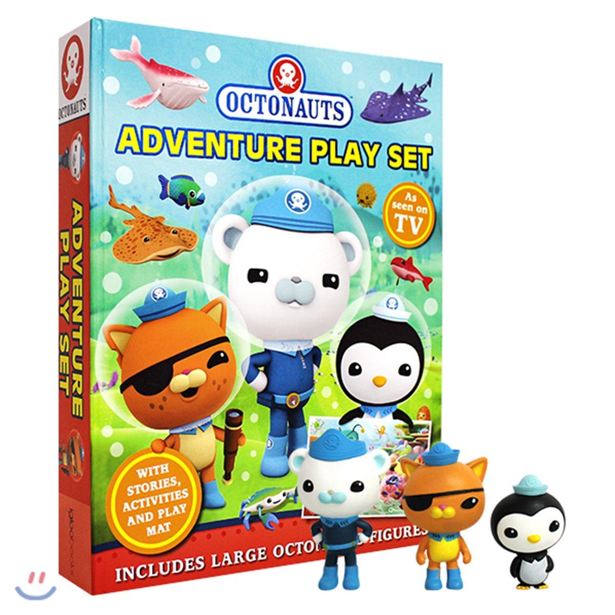 Octonauts Adventure Play Set : 바다탐험대 옥토넛 플레이북 (미니 피규어 3개 포함)