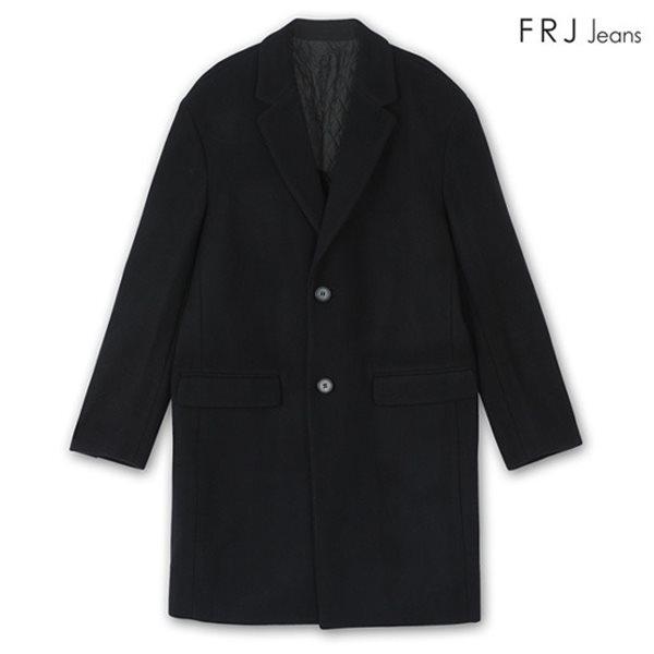 [FRJ] 남성 세미오버핏싱글버튼코트 BK (F74M-CT019B)