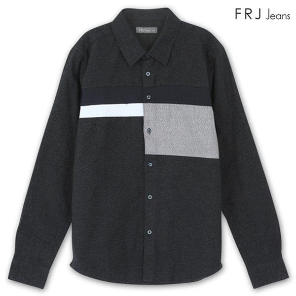 [FRJ] 남성 가로절개배색셔츠 CGR (F74M-SH048B)