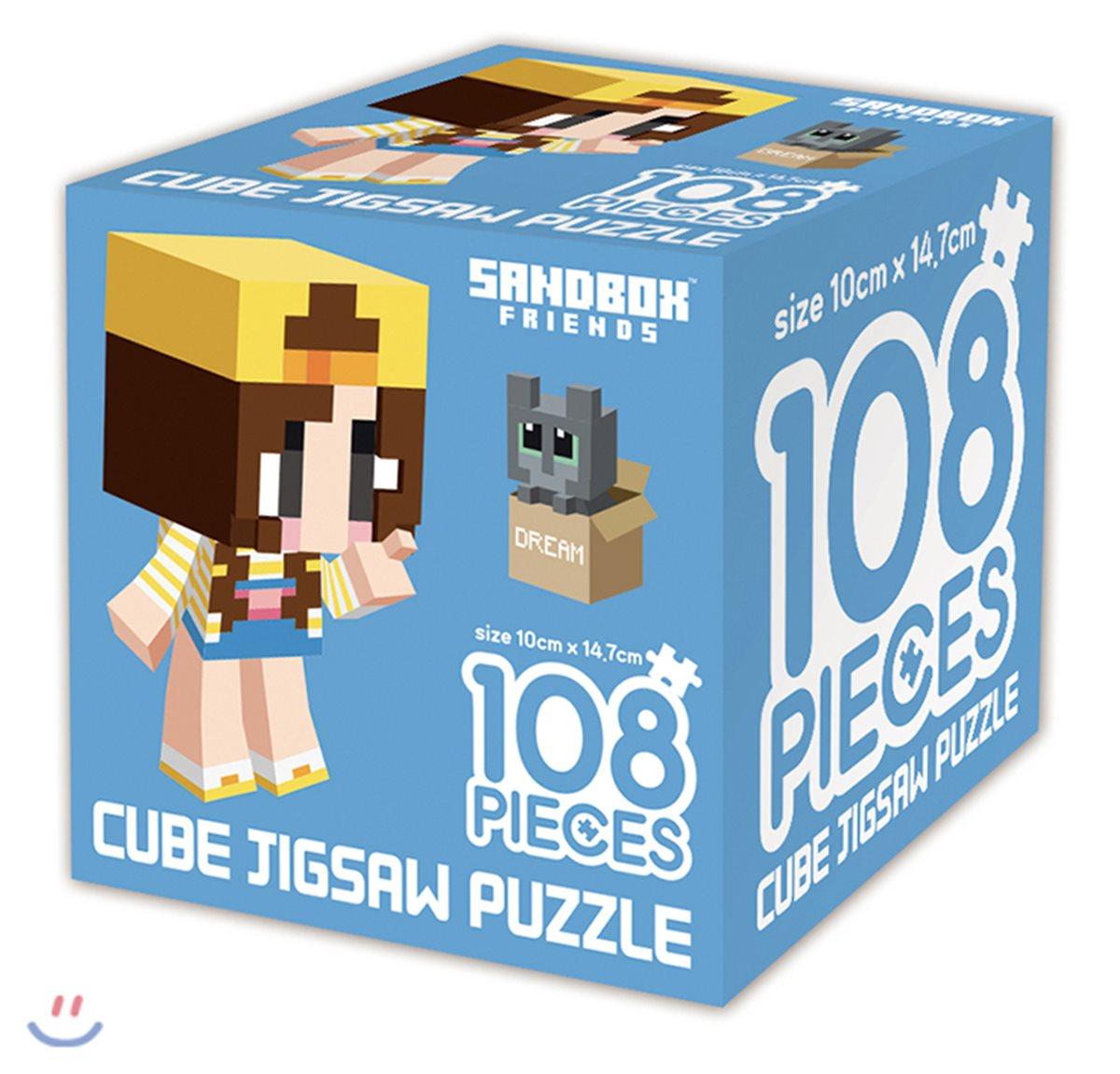 샌드박스 프렌즈 큐브 직소퍼즐 108 잠뜰과 고양이