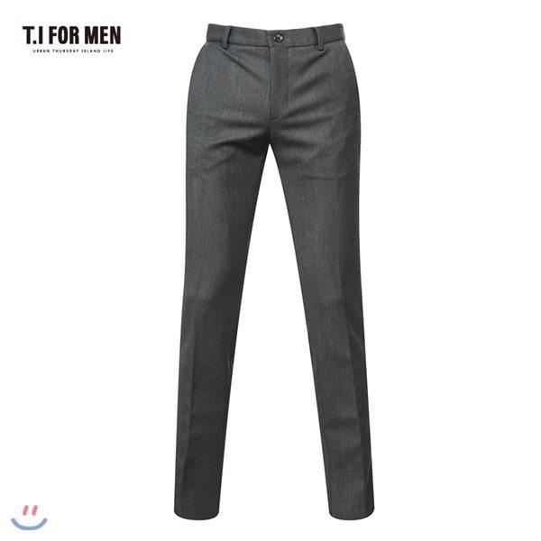 [TI FOR MEN] 티아이포맨 폴리혼방 솔리드 팬츠 M156MPT236M1GY4