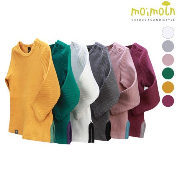 [모이몰른] 클립포인트 골지티셔츠 [봄]