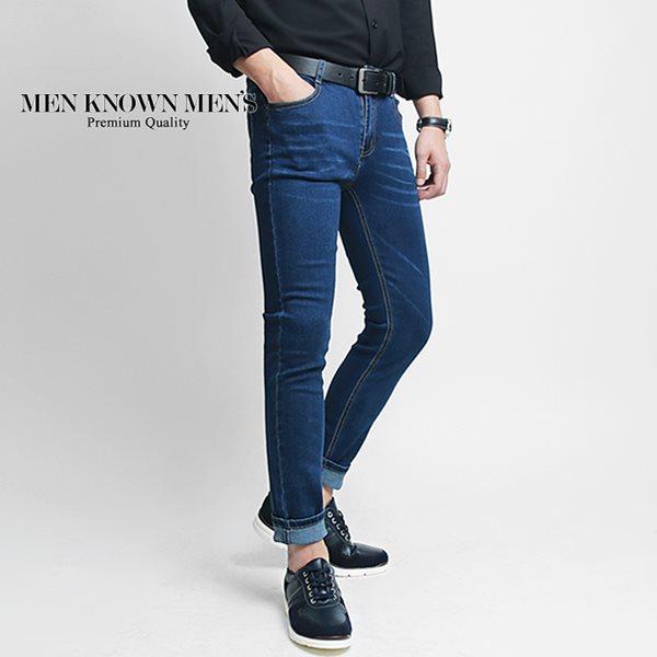 [MKM9]남자쉐도우워싱블루데님진 /빅사이즈/S~2XL