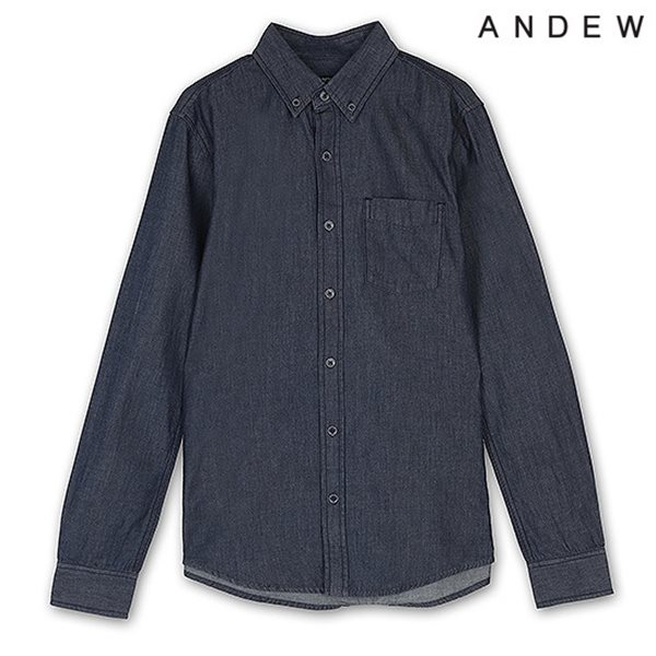 [ANDEW]남성 원워싱 데님 셔츠(O153SH130P)