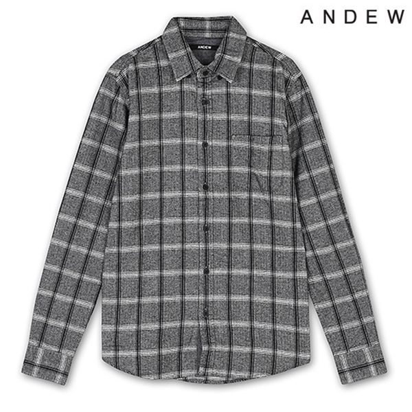 [ANDEW]남성 모노톤 체크 셔츠(O153SH140P)