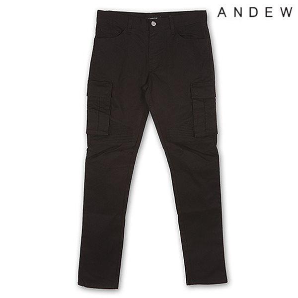 [ANDEW]남성 솔리드 카고 바지 BK(O153PT110P)