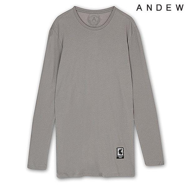 [ANDEW]남성 기본 라운드 긴팔 티셔츠 GR(O151TS110P)