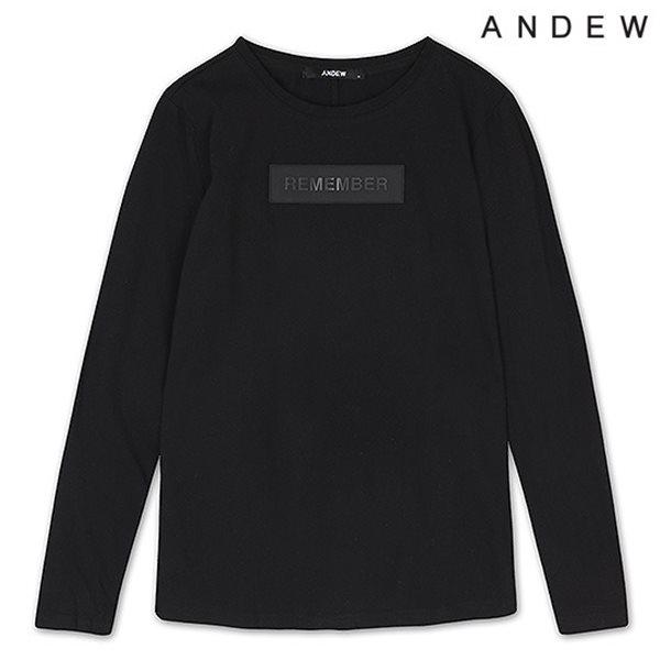 [ANDEW]여성 레터링 U-N 티셔츠(O153TS501P)