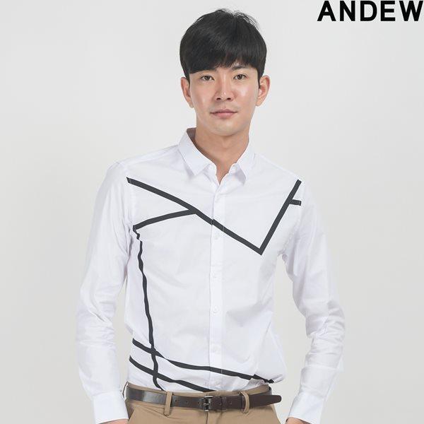 [ANDEW]남성 레터링 WH BK 셔츠 IV(O153SH150M)