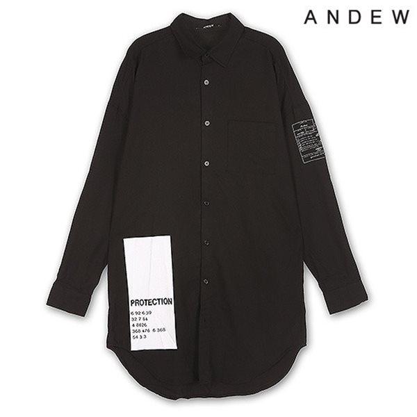 [ANDEW]남성 래터링 롱 셔츠(O153SH200M)