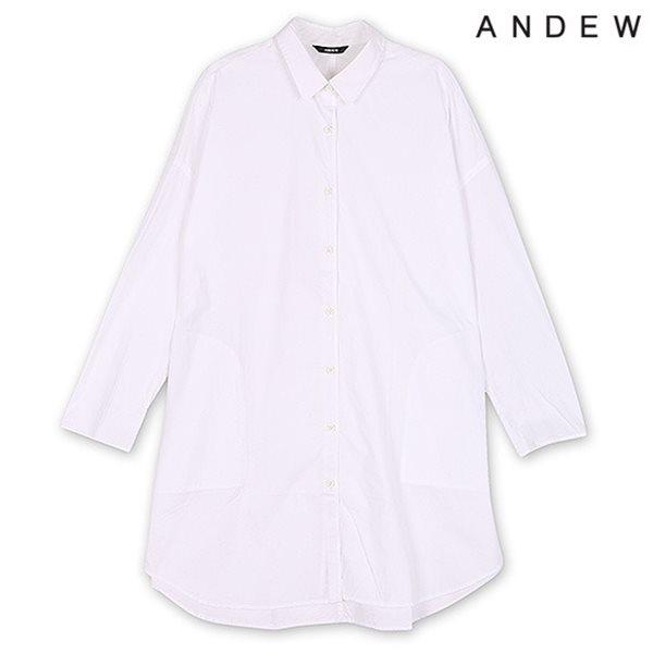 [ANDEW]여성 오버핏 레터링 셔츠(O153SH500M)