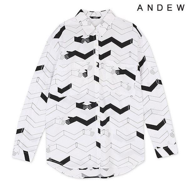 [ANDEW]여성 프린트물 셔츠 WT(O153SH560M)