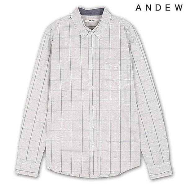 [ANDEW]남성 긴팔 윈도우 체크 셔츠 GR(O151SH150P)