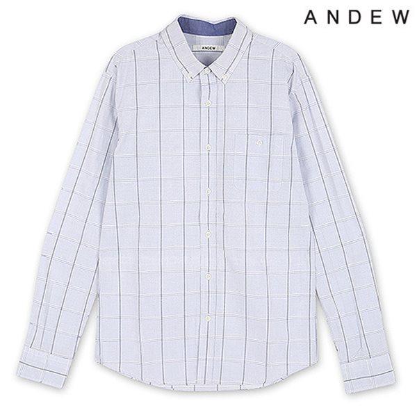 [ANDEW]남성 긴팔 윈도우 체크 셔츠 BL(O151SH150P)