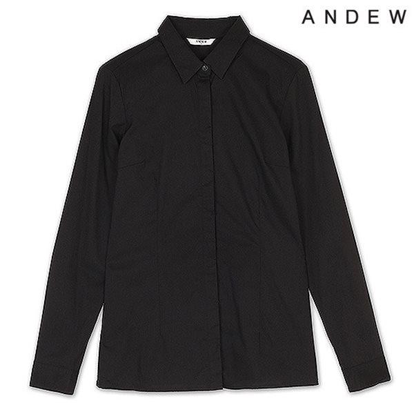 [ANDEW]여성 긴팔 CN스판 셔츠 BK(O151SH500M)