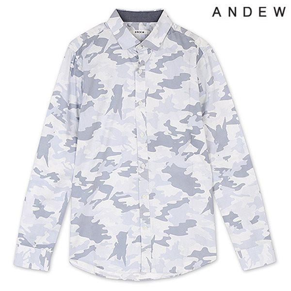 [ANDEW]남성 긴팔 전판 까모 프린트 셔츠(O151SH140M)
