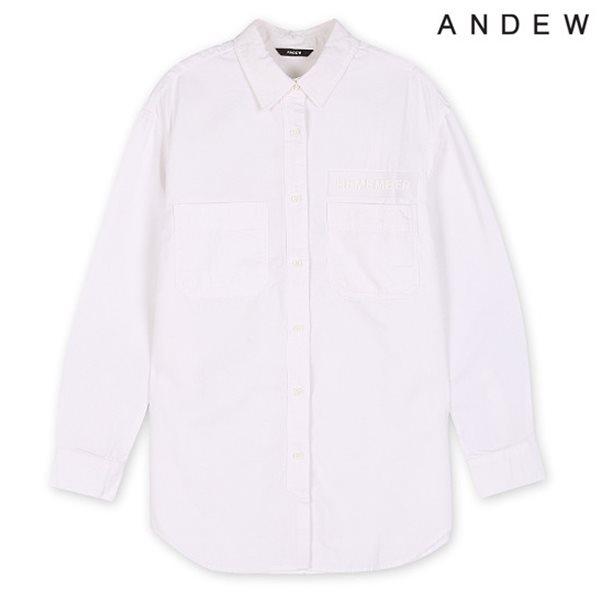 [ANDEW]여성 이중지 엠보 셔츠(O153SH550M)