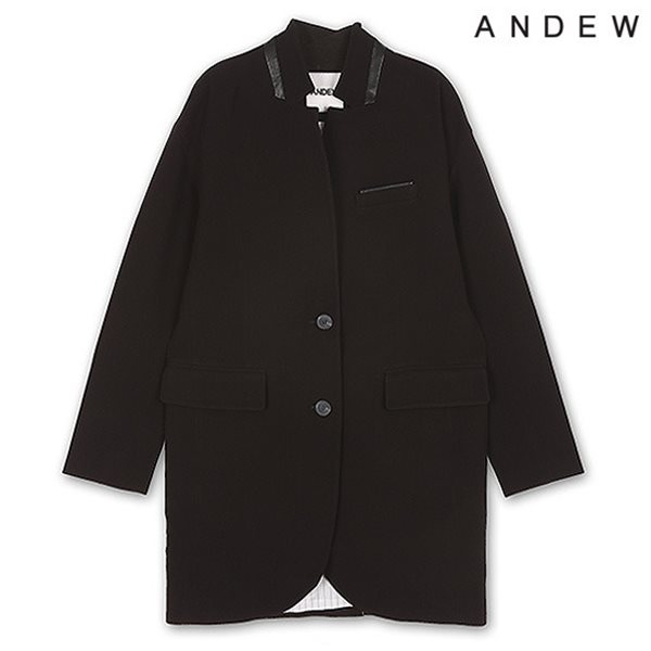 [ANDEW]유니 싱글 오버사이즈 코트 BK(O151CT011M)