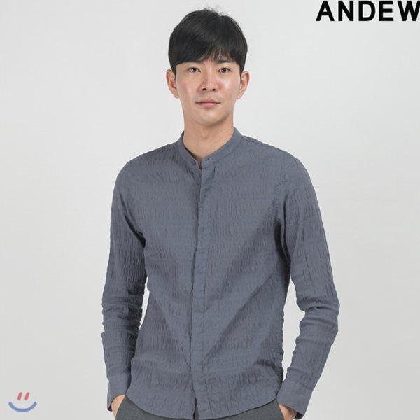 [ANDEW]남성 솔리드 거즈 셔츠 GR(O153SH110M)