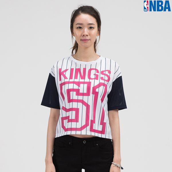 [NBA]SAC KINGS 세로 STRIPE MESH 크롭 TS NV (N142TS726P)