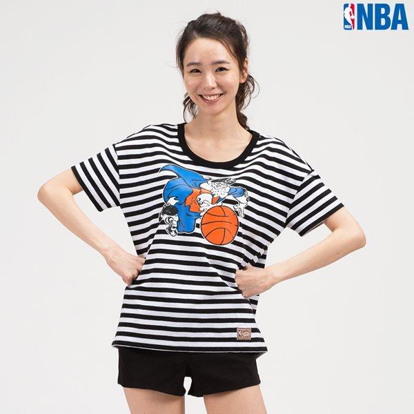 [NBA]NY KNICKS 캐릭터 STRIPE SHORT TS BK (N142TS714P)