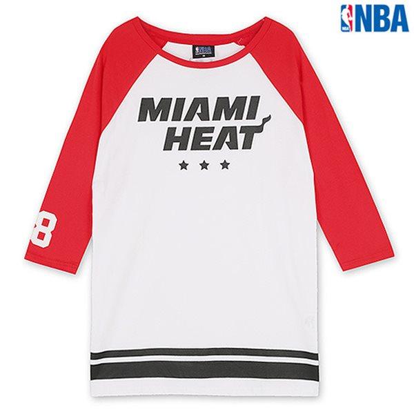 [NBA]MIA HEAT 배색 라글란 7부 TS RD (N142TS702P)
