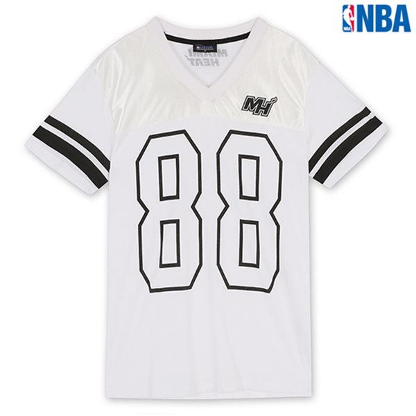 [NBA]MIA HEAT 숫자PRINT V-NECK SHORT TS WT (N142TS310P)