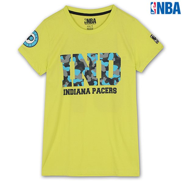 [NBA]IND PACERS 형광 CAMO프린트 TS YGN (N142TS033P)
