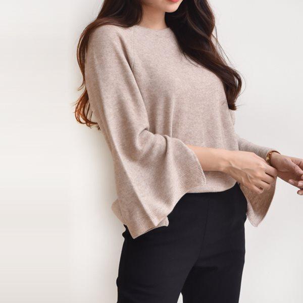 [드레스날다] 샤론 나그랑 소매 트임 라운드 니트(knit483)