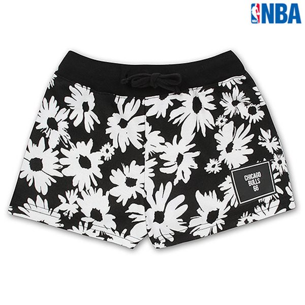 [NBA]CHI BULLS 아동용 꽃무늬패턴 PANTS BK (N152TP544P)