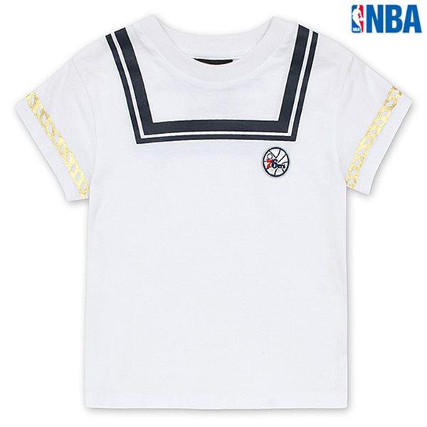 [NBA]PHI 76ERS 아동용 마린룩 크롭 TS WT (N152TS545P)