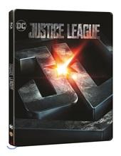 저스티스 리그 (2Disc 2D+3D 스틸북 한정판) : 블루레이