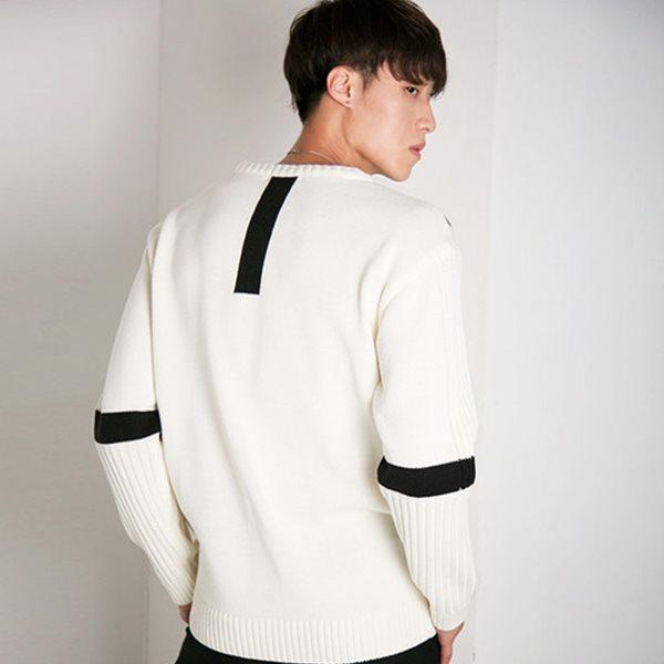 [ELOQ]_E176MSW122M_(남) 루즈핏 소매 컬러 블록 스웨터