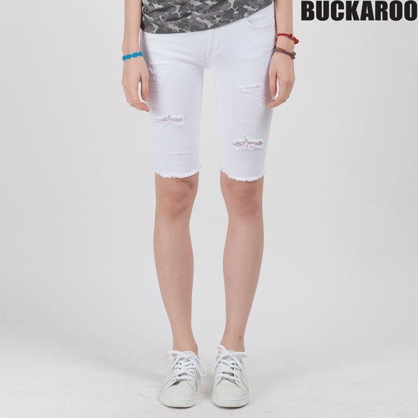 [BUCKAROO]여성 5부 스키니 레자배색(B152DP953M)