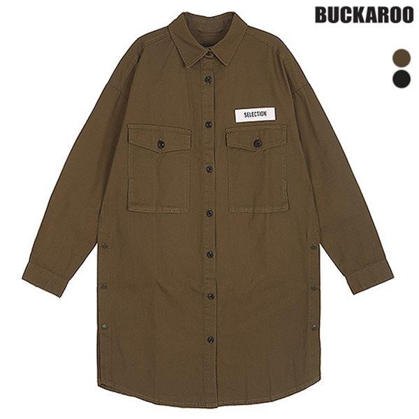 [BUCKAROO]여성 면16수 롱셔츠(B153SH710P)